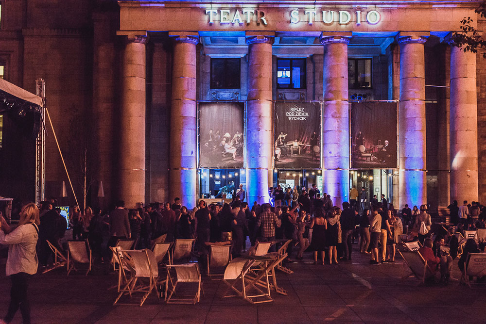 Plac Defilad nocą