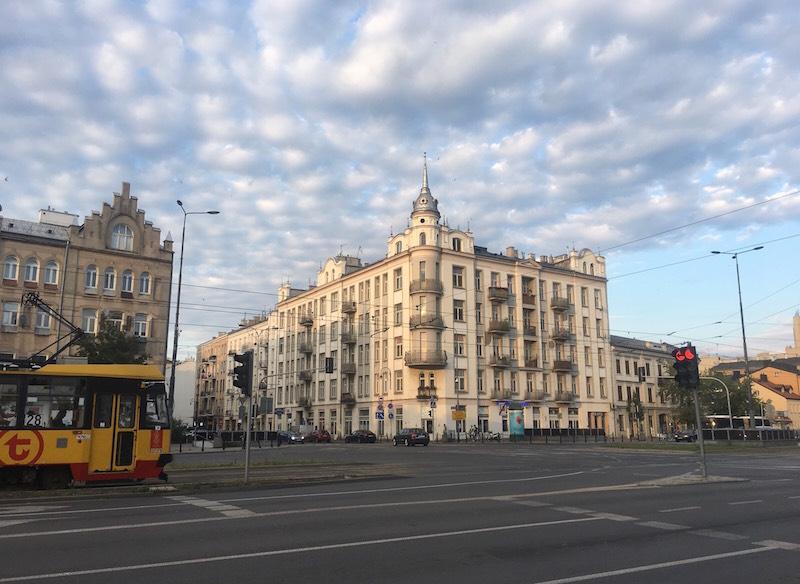 Widok z ulicy Targowej na Ząbkowską