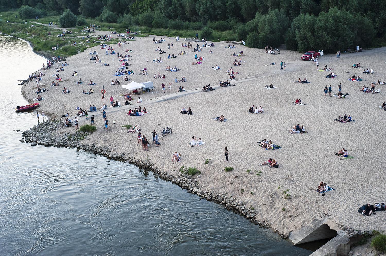 Plaża nad Wisłą w Warszawie