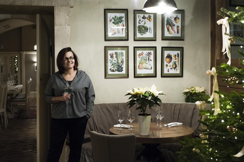 Agnieszka Kręglicka w restauracji Chianti na Foksal