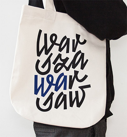 Canvas bag - Inscription